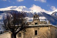 Castel San Vincenzo kyrka san filippo Arkivbilder