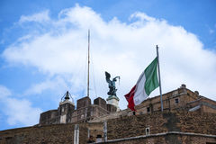 The Castel Sant'Angelo by the River Tiber in Rome Italy Royalty Free Stock Photography