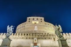 Castel Sant Ángel en Parco Adriano, Roma, Italia Imagenes de archivo