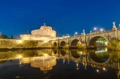 Castel Sant Ángel en Parco Adriano, Roma, Italia Fotografía de archivo