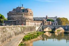 Castel Sant ' Ángel en Roma. Imagen de archivo libre de regalías