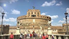 Castel Sant ' Ángel en Sunny Day almacen de video