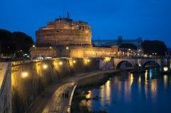 Castel Sant 'Angelo ou mausoléu de Hadrian, Roma, Itália imagem de stock