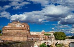 Castel Sant `安吉洛在罗马 免版税库存图片