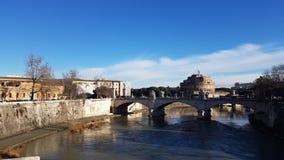 Castel Sant `安吉洛,罗马,意大利 库存照片
