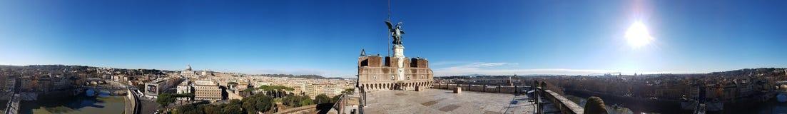 Castel Sant `安吉洛,罗马,意大利 免版税库存图片