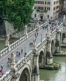 Castel Sant `安吉洛-天使桥梁  免版税库存照片