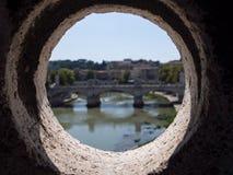 从Castel Sant `安吉洛的看法在罗马 库存图片