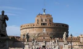 Castel Sant'Angelo梵蒂冈罗马意大利 免版税库存图片