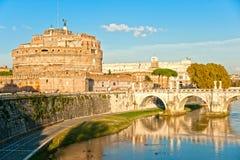 Castel Sant'angelo,罗马,意大利。 库存照片