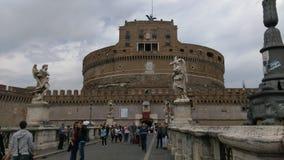 Castel Sant'Angelo à Rome Images libres de droits