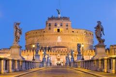 Castel Sant'angelo à Rome, Italie Images libres de droits