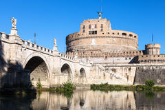 Castel Sant ` Angelo και γέφυρα αγγέλου του ST στη Ρώμη Στοκ φωτογραφίες με δικαίωμα ελεύθερης χρήσης