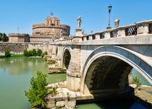 Castel Sant Angelo και Ponte Sant Angelo στη Ρώμη Στοκ φωτογραφίες με δικαίωμα ελεύθερης χρήσης