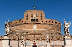 Castel Sant Angelo και Ponte Sant Angelo, Ρώμη, Ιταλία Στοκ εικόνα με δικαίωμα ελεύθερης χρήσης