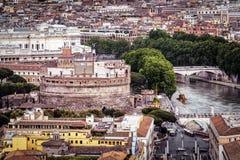 Castel Sant ` Angelo στη εικονική παράσταση πόλης της Ρώμης Στοκ Εικόνες