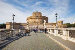 Castel Sant'Angelo στη Ρώμη, Ιταλία Στοκ εικόνες με δικαίωμα ελεύθερης χρήσης