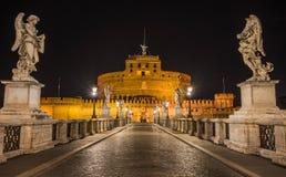 Castel Sant Angelo τή νύχτα, Ρώμη, Ιταλία Στοκ Εικόνα