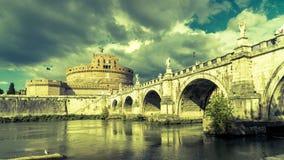 Castel Sant ` Angelo το καλοκαίρι, Ρώμη, Ιταλία Στοκ Εικόνες