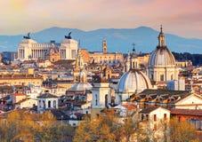Рим от Castel Sant'Angelo, Италии. Стоковое фото RF