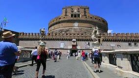 Castel Sant Angelo stock video