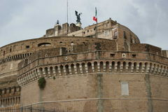 Castel Sant'Angelo with Angel Stock Image