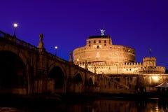Castel Sant Angelo au crépuscule Photographie stock