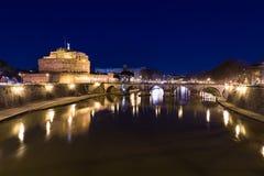 Castel Sant'Angelo (Castle του ιερού αγγέλου) και Ponte Sant'Ang Στοκ Εικόνες