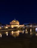 Castel Sant'Angelo (Castle of the Holy Angel) and Ponte Sant'Ang Stock Photography