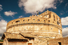 Castel Sant`Angelo (Castle of the Holy Angel) in Rome Stock Photos