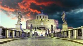 Castel Sant Angelo del puente, Roma Lapso de tiempo metrajes
