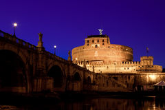 Castel Sant Angelo at Dusk Stock Photography