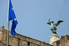 Castel Sant ?Angelo eller mausoleum av Hadrian i Rome royaltyfri fotografi