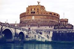 Castel Sant'Angelo em Roma Foto de Stock Royalty Free