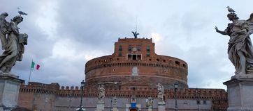 Castel Sant'angelo em Roma, Italia fotos de stock royalty free
