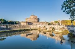 Castel Sant Angelo en Parco Adriano, Roma, Italia Foto de archivo libre de regalías