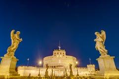 Castel Sant Angelo en Parco Adriano, Roma, Italia Fotografía de archivo libre de regalías