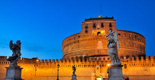 Castel Sant'Angelo in the Evening royalty free stock photography