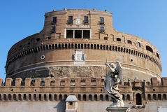 Castel Sant'Angelo. Fortress view in Rome, Italy Royalty Free Stock Photo