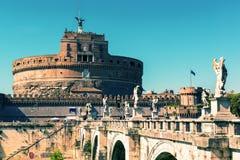 Castel Sant ` Angelo i Rome, Italien Royaltyfri Fotografi