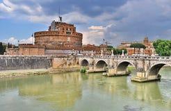 Castel Sant Angelo i Rome, Italien royaltyfria foton