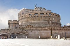 Castel Sant'Angelo (located in Rome) Stock Photo