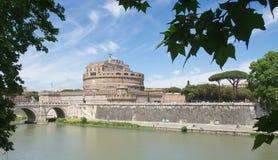 Castel Sant`Angelo - Mausoleo di Adriano - Roma - Italy. Castel Sant`Angelo - Mausoleo di Adriano - Tevere river - Roma - Italy stock image