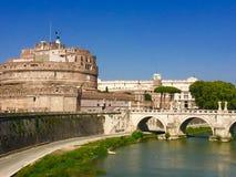 Castel Sant & x27; Angelo & x28; Mausoleo di Hadrian& x29; , Roma Fotografie Stock Libere da Diritti