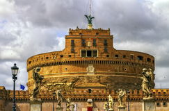 Castel Sant'Angelo or Mausoleum of Hadrian, Rome, Italy Stock Photography