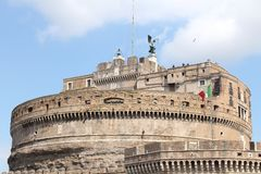 Castel Sant'Angelo (Mausoleum of Hadrian) in Rome Royalty Free Stock Photography