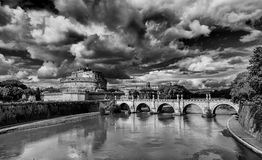 Castel Sant`Angelo with monumental bridge Stock Photo