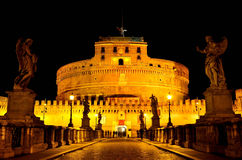 Castel Sant'Angelo At Night Royalty Free Stock Images