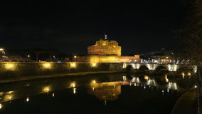Castel Sant`Angelo at night. A beautiful night view of popular castle in rome Saint Angelo Stock Photo