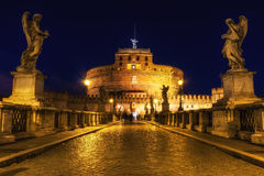 Castel Sant'Angelo at night Stock Photo